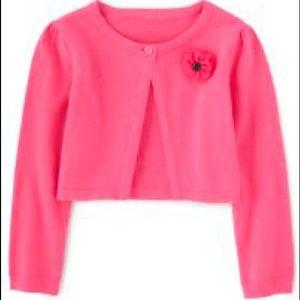 Girls Flower Applique Cardigan - Playful Poppies